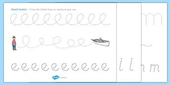 Pencil Control Sheets to Support Teaching on Lost and Found - pencil control, lost
