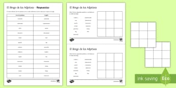 New Technologies Key Adjectives Bingo Spanish - KS4, Spanish, New Technologies, everyday, life, ordenador, movil, teléfono, tableta, portatil, vide