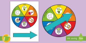 Ruleta de voces de lectura - Ruleta, roulette, spinner, wheel, gusto por la lectura, motivación, lectura en voz alta, voces de l