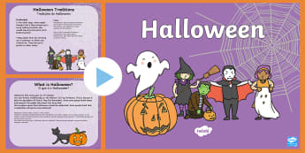 All About Halloween PowerPoint KS1 English/Portuguese - Halloween Information PowerPoint KS1 - halloween, pumpkin, October, celebration, festival, PowerPoin