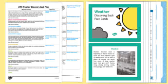 EYFS Weather Discovery Sack Plan and Resource Pack - EYFS, weather, seasons, discover