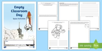 Empty Classroom Day Space Activity Booklet - CfE Empty Classroom Day (May 18th), outdoors, outdoor classroom day, outdoor learning, space, spaces