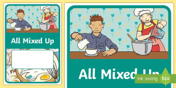 Science All Mixed Up Book Cover - Science, primary connections, chemical, grade 2, year 2, science journal, cover page, front cover, A