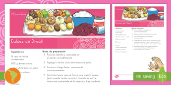 Receta: Dulces de Diwali - receta fácil, receta para niños, receta simple, religión, hindú, devali, deepavali, dates, cocon