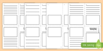 International Literacy Day Mini Book Activity Sheet, worksheet