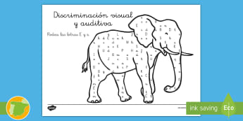 Ficha de discriminación visual y auditiva: La letra E - lecto, sonidos, lecto-escritura, fonemas, sonidos, consonantes, lengua P4, lengua 4AI, lengua ,Spani