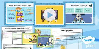 PlanIt Computing Y4 Scratch Questions Quizzes Lesson 5 Scoring Pack