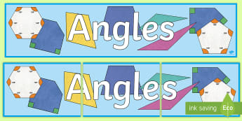 Angles Display Banner-Scottish - CfE Numeracy and Mathematics, shape, position, movement, angles, maths banner, display, Scottish