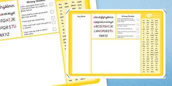 Key Word Writing Mat - keyword, writing, mat, write, writing mat, key words