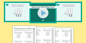KS2 Reasoning Test Practice Missing Number Calculations Subtraction with Digit Cards Resource Pack - Key Stage 2, KS2, Reasoning, Test, Practise, Missing Number, Subtraction