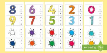 Marcheză litera corespunzătoare primului sunet: Cifre și culori Activitate - sunet și litera, comunicare, litere, litere de tipar, activități, jocuri, fonetică, Romanian
