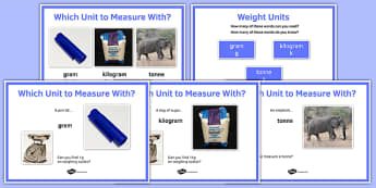 Maths Intervention Weight Unit Posters - SEN, special needs, intervention, maths, measure, weight