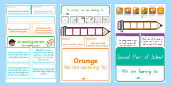 New Zealand Reading and Writing 2nd Year of School Display Resource Pack - NZ Literacy Resources, reading, writing, nz writing, second year, display