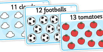 Numbers 11-20 Basic Playdough Mats - number playdough mats, basic playdough mats, simple playdough mats, counting playdough mats, numbers 11-20, sen