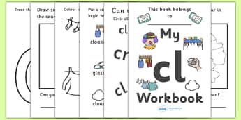 My 'cl' Letter Blend Workbook - workbook, cl, letters, blend, alphabet, activity, handwriting, blends, letter, letter blends
