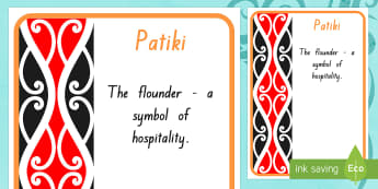 Patiki Pattern A4 Display Poster