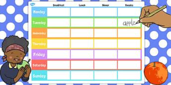 Weekly Meal Planner Template - weekly, meal, planner, template