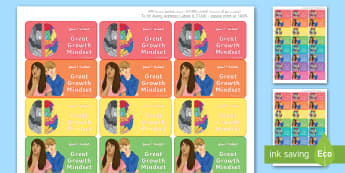 Maths 'Great Growth Mindset' Stickers Arabic/English - EAL, stickers, labels, Marking, Feedback, Rewards, Learning, Attitude, Time-Saving, Positive, Praise