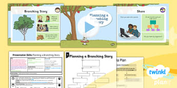PowerPoint Presentation Skills: Planning a Branching Story - Year 3 Computing Lesson Pack