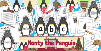 Monty The Penguin Display Pack - monty, penguin, christmas, pack