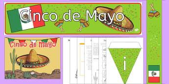 Cinco de Mayo K-2 Bumper Resource Pack - Cinco de Mayo, mexico, mexican