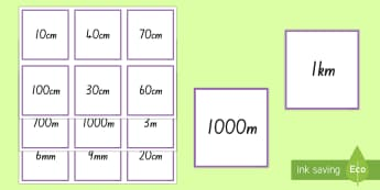 Length and Distance Equivalents Matching Cards - Maths, Length, Distance, Measurement, maths