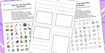 Make Your Own My Hobbies Mini Booklet - hobbies, booklet, design