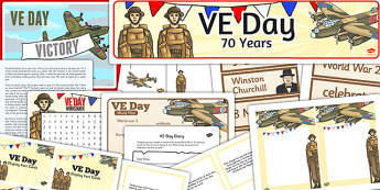 VE Day Resource Pack - ve, day, resource, pack, victory in europe