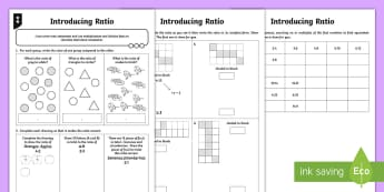 Ratio Differentiated Activity Sheets - Ratio and Proportion, ratio, comparing groups, differentiation, sats practise, sats practice, year 6