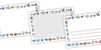 Space Full Page Borders (Landscape) - page border, border, frame, writing frame, writing template, space, out of space, in space, spaceship, space borders, landscape space borders, landscape borders, writing aid, writing, A4 page, page edge, writing