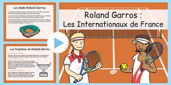 Roland-Garros: Les Internationaux de France - french, roland garros, information powerpoint, information, powerpoint