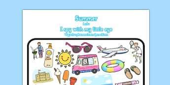 Summer Themed I Spy With My Little Eye Activity Polish Translation - seasons, beach, bilingual