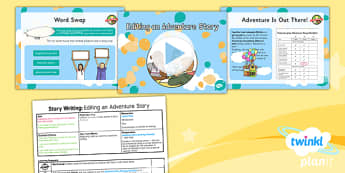 Explorers: Up and Amelia Earhart: Story Writing 3 Y2 Lesson Pack - Adventure story, Disney, famous women, inventors, aviation, transport