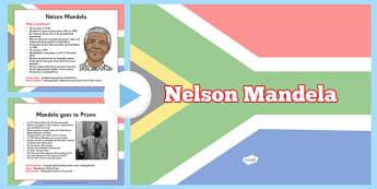 Nelson Mandela Informative PowerPoint - nelson mandela, history