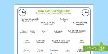 Time Conjunctions Mat Polish Translation - Time Connectives Mat - time connectives, mat, time, connectives, conectives, timeconnectives, Timw,P