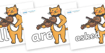 Tricky Words on Cat and Fiddle - Tricky words, DfES Letters and Sounds, Letters and sounds, display, words