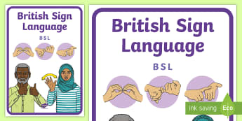 British Sign Language (BSL) Book Cover - British sign language, BSL, ,book cover, deaf awareness
