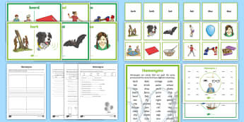 Homonyms Activity Pack - Language, word study, vocabulary, word study, English curriculum,Australia