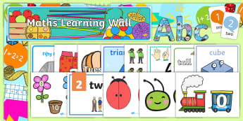 ROI Infants Maths Working Wall Display Pack - maths, numeracy, working wall, display pack, posters, junior infants, senior infants,Irish
