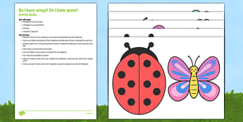 Do I Have Wings? Do I Have Spots? Busy Bag Resource Pack for Parents - Minibeasts, creepy crawlies, bugs, wings, spots, legs, antennae, shell, body