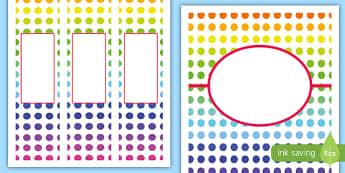 Colorful Crayons Binder Cover - Classroom Display Packs, binder, folder, cover, crayons, organization
