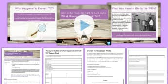 What Happened to Emmett Till? Lesson Pack - USA, Key Stage 4, GCSE, History, Civil Rights, Black rights, racism, segregation, enquiry, sources