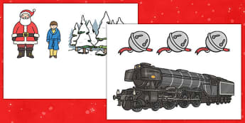 Christmas Train Journey Display Cut Outs - christmas train journey, display, cut outs