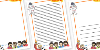 1960s Page Borders - 1960s, page border, border, writing template, writing aid, writing, 60s, The Beatles, world cup, football, land on the moon, first man