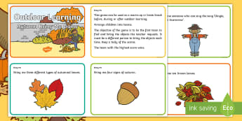 Autumn Bring Me Game Challenge Cards - Games, Outdoor Learning, Forest School, PE,Scottish, find, search