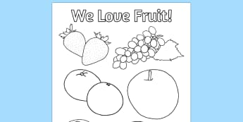 Fruit Colouring Poster - fruit, colouring, poster, activity