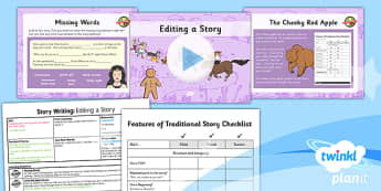 Traditional Tales: The Gingerbread Man: Story Writing 3 Y2 Lesson Pack - traditional tales, fairy tales, storytelling, retelling, story map, talk for writing