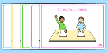 I Need Help Please Support Cards - learning support, word cards