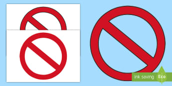 No Entry Display Cut Out - not allowed, access, warning, sign, role play