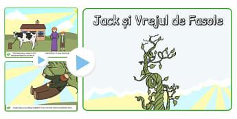 Jack si Vrejul de Fasole, lecturat cu imagini, powerpoint, Romanian